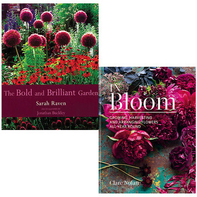 In Bloom, Bold and Brilliant Garden 2 Books Collection Set Growing, Harvesting