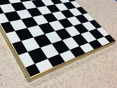 6x6 courtly check ceramic tile/trivet packaged In MacKenzie Childs tissue