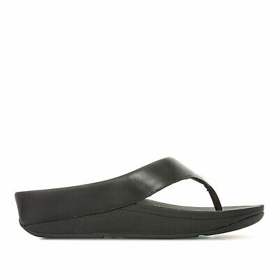 c2e73fb2c WOMENS FITFLOP RINGER Toe Post Sandals In All Black - £25.79 ...