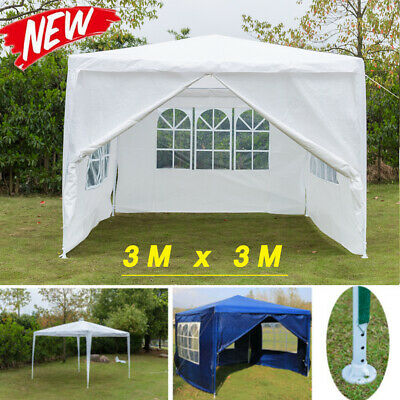 3x3m Tent Outdoor Wedding Party Garden Gazebo Marquee Canopy Removable Sidewalls