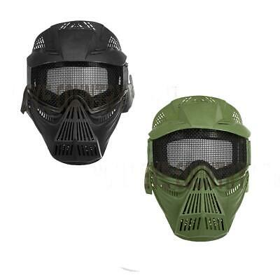Invader Gear Airsoft Commander Full Plastic Face Mask with Mesh Glasses Goggles