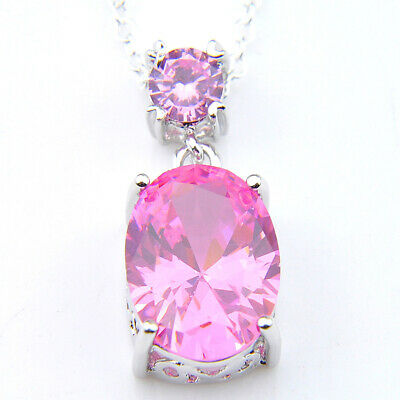 Multi Fire Red Garnet Gemstone Silver Charming Necklace Pendant With Chain