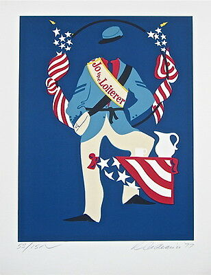Jo the Loiterer The Mother of Us All Limited Edition Lithograph Robert Indiana