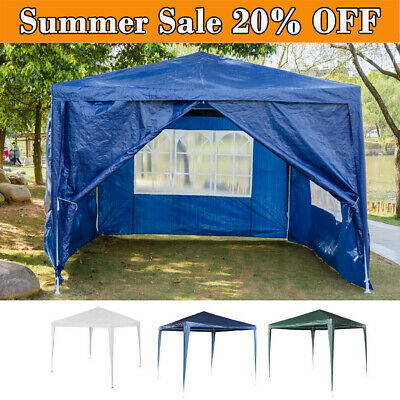 Gazebo Waterproof Garden Outdoor Marquee Wedding Party PE Tent 3x4m W/ Sidewall