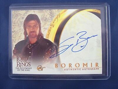 Lord of the Rings Fellowship of the Ring Sean Bean as Boromir Autograph Card