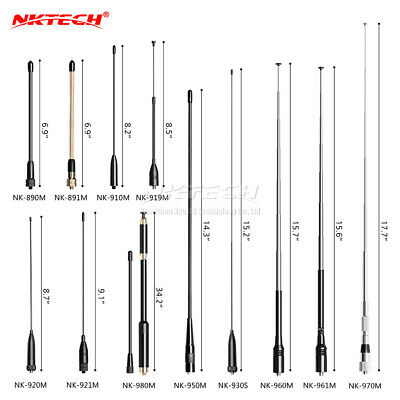 NKTECH SMA-Female High Gain Dual Band Antenna For BaoFeng DM-1701 DM-1801 DM-5R