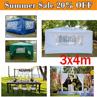 3M X 4M Garden Gazebo Tent Marquee Outdoor Waterproof Party Awning Canopy Patio