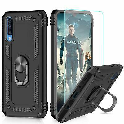 COQUE GALAXY A40 / A50 / A70 + VITRE VERRE  housse etui silicone support integré