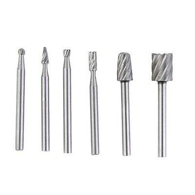 6pcs HSS Routing Router Grinding Bits Burr For Dremel Bosch Rotary Tool T7 - UK