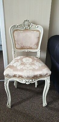 french chair louis style gold dresser, bedroom chair