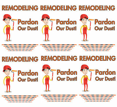 Remodeling Banner Pardon Our Dust Coming Soon Retail Store Sign 18x48