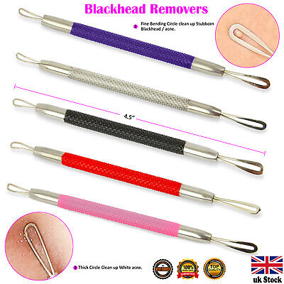 Blackhead Remover Tool Extractor Whitehead Comedone Facial Acne Spots Zit Pimple