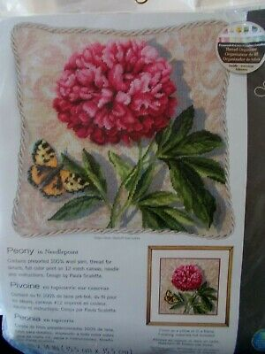 """Needlepoint Kit """" Peony """"  New by Dimensions 14"""" x 14"""""""