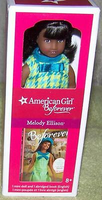 "American Girl Beforever Melody Ellison 6"" Mini Doll with Mini Book New"