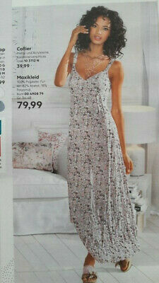 SOMMER MAXI KLEID LANG TUNKA SPITZE STRAND PUSH UP 36 38 40 42 S M L PARTY MULTI