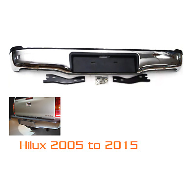Toyota Hilux Mk6 2005 -11 Rear Back Chrome Bumper Steps Hi Lux Invincible Vi-M44