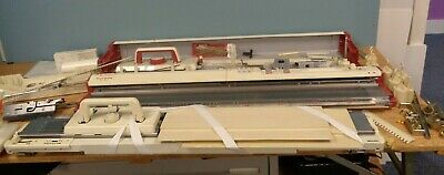 Vintage Toyota KS 950 Automatic Punchcard Knitting Machine, Ribber & Accessories