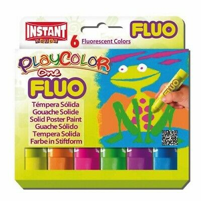 Playcolor 10431 - Tempera Solida Fluor One 10G 6 Colores