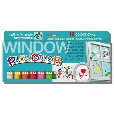 Playcolor 02011 - Tempera Solida Playcolor Window One 12 Colores