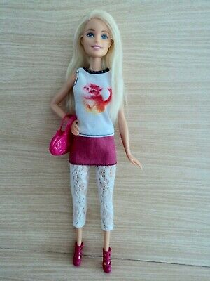 Barbie Fashionistas in A Kitty Mini Dress, Lace Leggings Boots & Bag