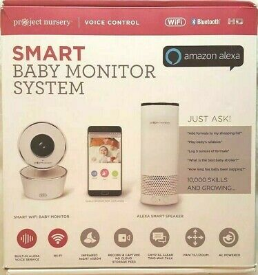 Project Nursery Smart Baby Monitor System with Amazon Alexa Ships Free NEW
