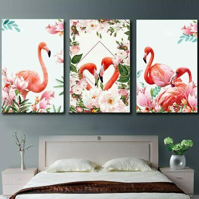 WHITE FLOWER ABSTRACT Art 3 PCS Canvas Printed Wall Poster