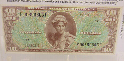 Series 541 $10 Military Payment Certificate ----- Extremely Rare *