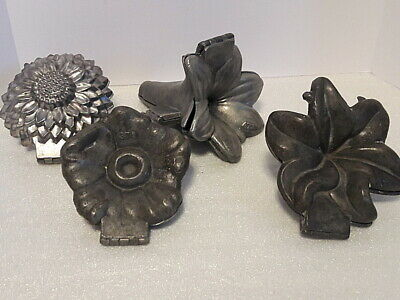 Vintage 1920's to 1940's Pewter Flower Ice cream Mold