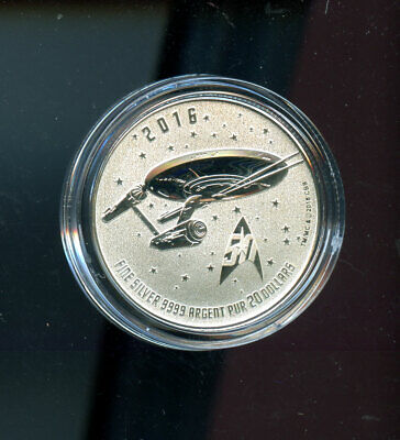 2016 Canada 20$ Star trek enterprise silver coin 99.99% pure - 20 dollars  A05