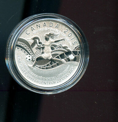 Canada 2015 $20 Commemorative FIFA Women's World Cup Silver Coin A10
