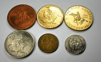 Vintage Lot Of Pony Express Centennial Medals/ Tokens- 6
