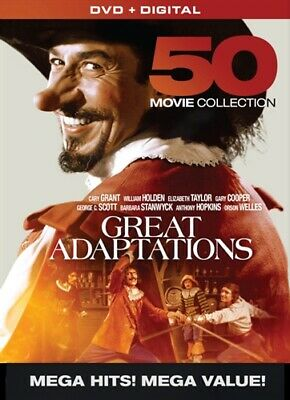 GREAT ADAPTATIONS 50 MOVIE COLLECTION New Sealed 10 DVD Set