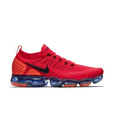 "Mens Nike Air VaporMax Flyknit 2 ""Red Orbit"" Sneakers AR5406 600 size 11.5"