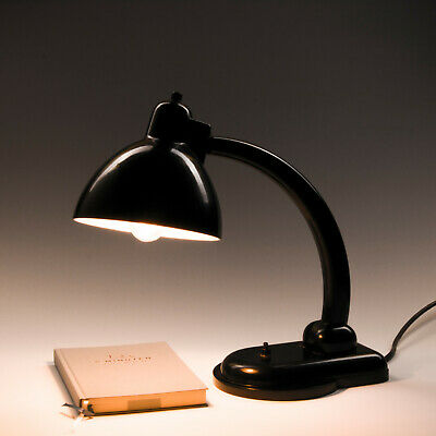 1930s Bakelite Desk Lamp Art Deco Bauhaus Antique Ajustable Light by Kandem IKA