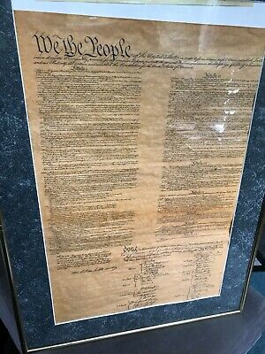 Replica Constitution of the US on Antiqued Parchment Paper historical document