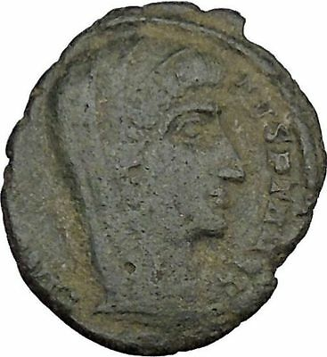 CONSTANTINE I the GREAT Heaven Chariot Ancient Roman Coin Deification  i37510