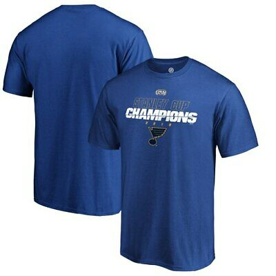 St. Louis Blues Fanatics Branded 2019 Stanley Cup Champions 5-on-5 T-Shirt -