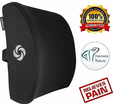 Office Chair Lumbar Support Pillow Memory Foam Car Cushion Lower Back Pain Seats