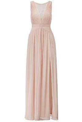 Adrianna Papell Pink Blush Womens Size 16 Mesh Floral-Lace Gown Dress $180- #149