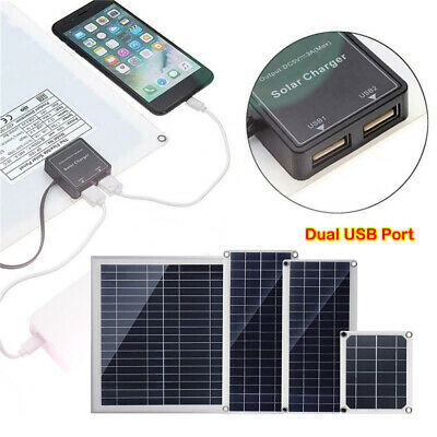 10W 20W Car Boat Yacht Solar Panel Trickle Battery Charger Power Supply Outdoor