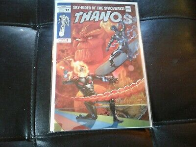Thanos 17  1 st Fallen One Silver Surfer Black Thor Homage Variant lim to 3000