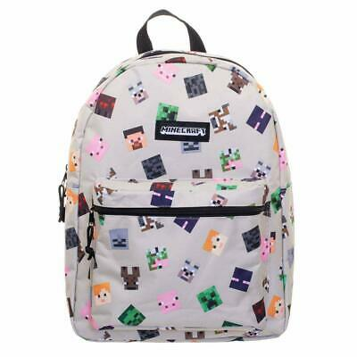Minecraft - Heads All over Print Backpack  ** 100% original **