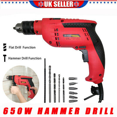 Electric Rotary Hammer Drill 650W Impact Drill Breaker Corded Home Diy Power