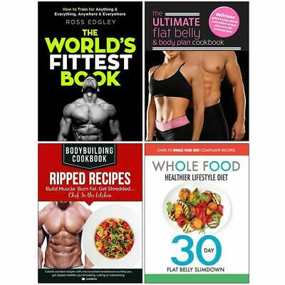 Worlds Fittest Book,Ultimate Flat Belly & Body Plan Cookbook 4 Books Collection