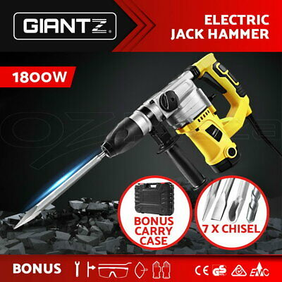 Giantz 1800W Jack Hammer 4 In 1 Jackhammer Drill Demolition Rotary Electric