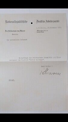 German Original 1939 Worker Party Document, Sing For K. Hannsen