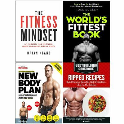Fitness mindset, worlds fittest book, new body plan 4 Books Collection Set NEW