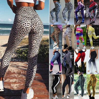 Women's Sports Yoga Pants Push Up Leggings Fitness Running Stretch Trousers A64