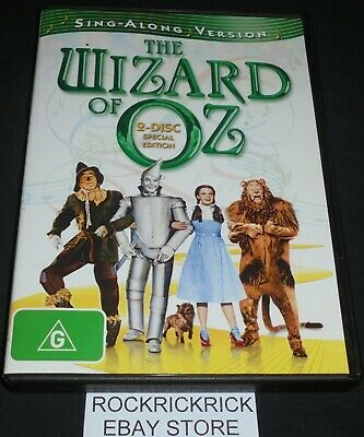 The Wizard Of Oz Dvd 2 Disc Special Edition (Region 4) Sing-Along Version