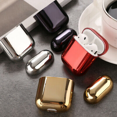 For Apple Airpods  luxury electroplated hard shell earphone shell  protective